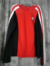 DUCATI Corse Motorcycle Long Sleeve Shirt Youth Small Red Black White EUC