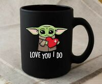 Baby Yoda Love You I Do Mug 2021 Valentines Day Couple Gift Mug