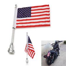 New listing Motorcycle Rack American Usa Flag Flagpole Luggage Mount For Harley Customs