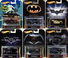 Batman Batmobile Set 6 Modelle 1966 Tumbler Bat Batwing Retro 1:64 Hot Wheels