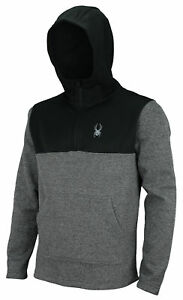 Spyder Men's Racer 1/4 Zip Pullover Hoodie, Color Options