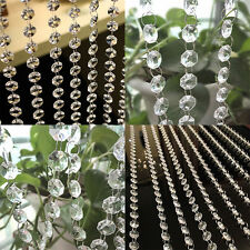 1M 3.3FT Chandelier Garland Diamond Strand Crystal Beads Wedding Hanging Curtain