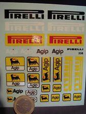"DECALS 1/18 LOGOS "" PIRELLI - AGIP "" - T338"