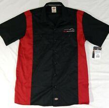 PH Racing Dickies Mechanic Shirt Short Sleeve Button Red Black Block Mens L NWT