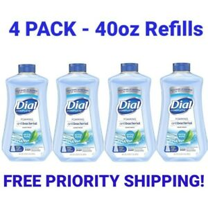 4 Dial Complete Foaming Hand Soap 40oz Refill, Spring Water Soap Refill, 40oz x4