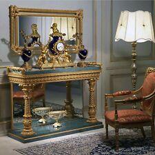 Antique 19th Century French Gilt Bronze & Porcelain Clock : Double Dials