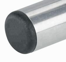 "2 1/2"" inch Round Tube End Plug. End Blanking Plug, Post Cap -Black- 2 Plugs"