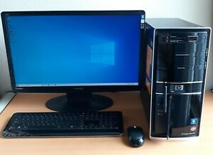 """HP Pavilion Elite HPE-410f Desktop Monitor 24.6"""" included Used fully functional"""