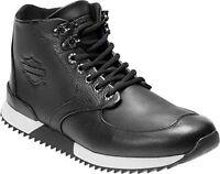 Harley-Davidson® Men's Cadden Black Leather Sneakers D93546