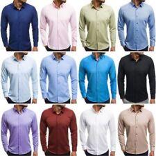 Camicie casual e maglie da uomo a manica lunga con girocollo multicolore