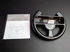 Nintendo Wii Komfort Rennen Lenkrad Schwarz für Wii Fernbedienung Gute Kondition