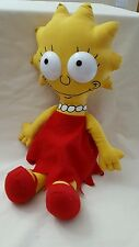 "Vintage 1990 The Simpsons Lisa Simpson Rag Doll 16"" plastic eyes Matt Groening"