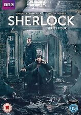 Sherlock Complete Series 4 DVD All Episodes Fourth Season Original UK Release R2