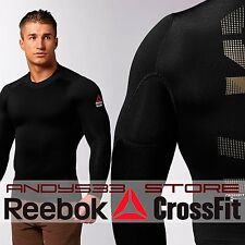 Reebok CrossFit Men BareMOVE PlayWARM Thermal Shirt Compression Top Cold Mock S