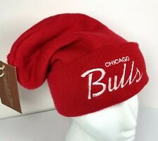 Chicago Bulls NBA Mitchell & Ness Red Script Winter Hat Cap New With Tags Retro