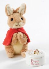 Beatrix Potter Flopsy Bunny Soft Toy and Lidded Trinket Box Gift Set 12cm A28068
