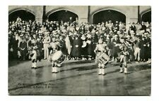 Worlds Fair Postcard 1933 Century of Progress MERRIE ENGLAND BAGPIPERS
