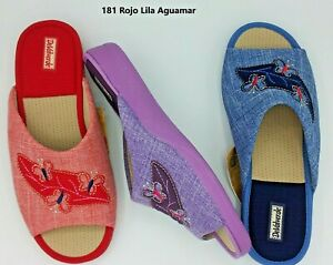 DeValverde Scuffs - Ladies -  181  Lila Aguamar Rojo