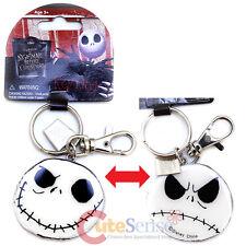 Nightmare Before Christmas Jack 2 Face Metal Key Chain NBC Key Good Bad Day
