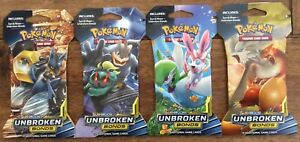 Pokemon Unbroken Bonds Blister Pack, New, Sealed Booster 4 Types available