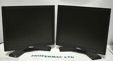 "2 x Dell 17"" E1708FP VGA DVI TFT LCD Monitor GRADE A CABLES INCLUDED"