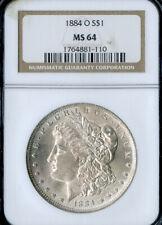 US Coin 1884-O Silver Morgan Dollar NGC MS64 NO RESERVE!