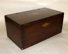 "Antique 19th Century 22"" Folding Wood Lap Travel Writing Desk 14 Compartments"