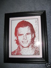Amazing Picture of Dan Wheldon~Computer Generated Graphic Art with Frame NEW