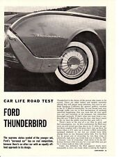1961 FORD THUNDERBIRD 390/300 HP  ~  ORIGINAL 5-PAGE ROAD TEST / ARTICLE / AD