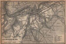 SPA ENVIRONS. Creppe. Belgium carte. BAEDEKER 1901 old antique map plan chart