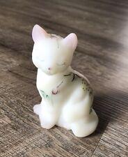 Fenton Hand Painted Cat/Kitten