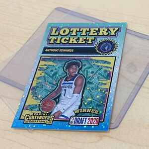 Anthony Edwards Rookie Lottery Ticket Panini Contenders Draft 2020 NBA Card #11