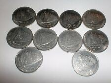 "INDIA COINS LOT OF 10 COMMEMORATIVE COINS- 50 PAISE  ""MAHATMA GANDHI""- 1947-1997"