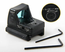 Tactical Reflex Adjustable Ultra Mini Red Dot Sight Scope for Airsoft Black