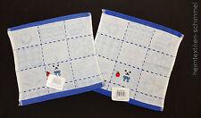 2-tlg Kinder Baby Waschlappen Seiftuch Seiftücher Kinderwaschlappen ÖKO-TEX blau