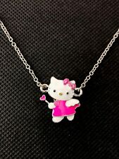 Sanrio Hello Kitty Girls Women's Kids Pink Angel Bow Pendant Necklace Brand New