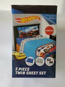 Hot Wheels 3-Piece Microfiber Twin Sheet Set (NIP)