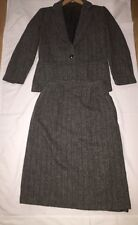 Vintage Ashley Brooke Wool Skirt Suit Size PETITE 6