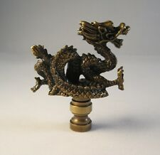 Lamp Finial-SERPENT-Aged Brass Finish, Highly detailed metal casting,FS