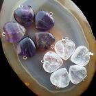 10pcs Beautiful Mixed Gemstone Heart Pendant Bead R0066248