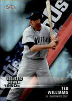 2020 Topps Chrome Decade of Dominance #DOD-5 TED WILLIAMS Die-Cut Refractor
