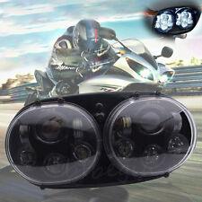 """5.75"""" 90W CREE LED MOTORRAD SCHEINWERFER 9V-32V 6000K f. Harley Road Glide 98-13"""