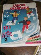 Langue française La balle aux mots CE1 Manuel scolaire 1986 Grammaire ... Nathan