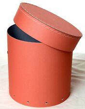 1x Salmon colour decorative round hat box for flowers Home Decor Gift M
