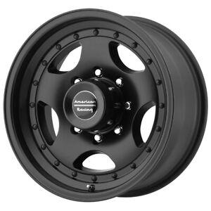 """American Racing AR23 15x10 6x5.5"""" -44mm Satin Black Wheel Rim 15"""" Inch"""