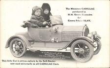 Advertising. Cadillac Cars. Queen Alexandra for Prince Olav. F.P Bennett, London