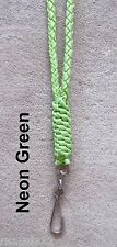 NECK LANYARD Paracord Braided  NEON GREEN - NEW