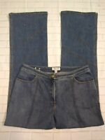 St. John Sport Womens Jeans Size 10 Medium Wash Straight Leg Wide Loose Fit Pant