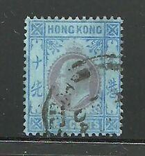 Album Treasures Hong Kong Scott # 76  10c  Edward VII VF Used CDS
