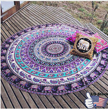 Large Round Beach Pool Home Shower Towel Tapestry Blanket Table Cloth Yoga Mat